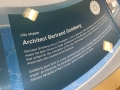 An educational display in the lobby